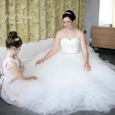 c6c7cac90c04 We love this wonderful photo of real bride Nicola in 'Velez' by Viva Bride