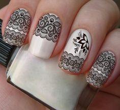 pelicula de unha renda - Pesquisa Google Spring Nail Art, Spring Nails, Summer Nails, Indian Nails, Manicure, Nail Decorations, Fabulous Nails, Nails Inspiration, All The Colors