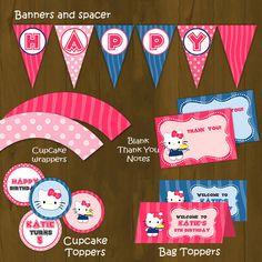 Image of HELLO KITTY Printable Birthday Party Set