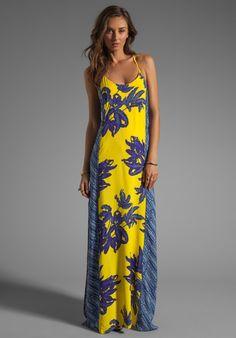 Long yellow dress