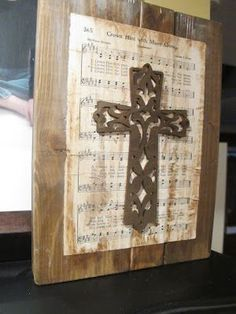 I love this -- I think I would use the hymn 'The Old Rugged Cross' or 'In The Garden' or 'It Is Well With My Soul'....