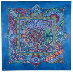Coexistence 100 x 100 cm Acrylic on wood