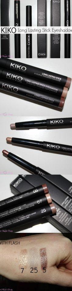Kiko Long Lasting Stick Eyeshadow Review & Photos http://pinkparadisebeauty.blogspot.co.uk/2015/04/kiko-long-lasting-stick-eyeshadow.html