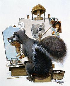 Micawber by C. F. Payne #Illustration #Drawing #Payne