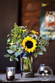 Sunflower centerpieces (20)