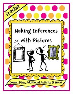 Making Inferences with Pictures - 29 pages Activity Includes: * Teacher Instructions * 14 Images * Response Handouts for Lessons * List of Possible Responses * Additional Inference Carousel Activity * Template for Student Inference Pictures Teaching Language Arts, Language Activities, Speech And Language, Dual Language, English Language, Reading Lessons, Reading Skills, Teaching Reading, Learning