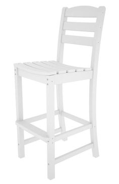 Polywood TD102WH La Casa Café Bar Side Chair in White