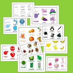 Fichas para trabajar los colores (Click on link in description to access page.) http://www.escuelaenlanube.com/fichas-para-trabajar-los-colores/
