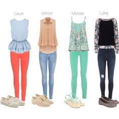 The girly outfit he likes Calum Hood  Michael Clifford Luke Hemmings Ashton Irwin 5 Seconds of Summer Preferences 5sos