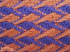 Two Color Jacquards looks intricate but in fact it is an easy one, because it uses the simple technique of two-color slip-stitch knitting.