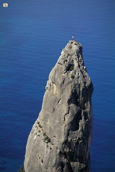 Free Climbing a Baunei, Sardinia - Sardegna, Italy