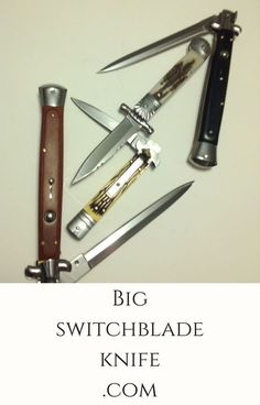 "Are you looking for Switchblades / Automatic Auto blade knives? Do you want High Quality Knives at a great price? Big switchblade knife is the place to shop. We have many sizes and styles to pick from. Switchblade Stilettos, Leverlocs, Leverettos, Pick locks and Ring pulls. Our favorite here at Bigswitchbladeknife.com is the 13"" Italian stiletto style so we built our website around it."