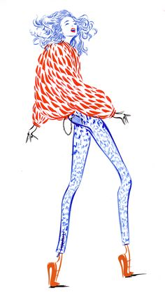 Jo Ratcliffe fashion drawing