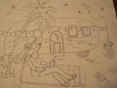 Relaxing by My Beach RV vintage style by sticklecreekstore on Etsy, $16.00