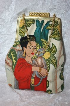 Frida Kahlo - Clutch  - Brillenetui von The House of Gabriele Mast auf DaWanda.com