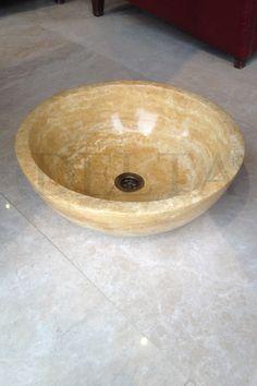 Zurih Yellow travertine sink (DLT 618)