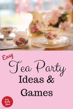 Tea Party Activities, Tea Party Crafts, Tea Party Games, Tea Party Theme, Tea Party Birthday, 5th Birthday, Tea Party Menu, Birthday Party Games For Kids, Tea Party Favors