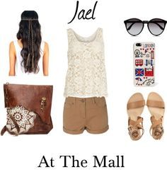 """At the mall~Jael"" by vanilla-bean8 ❤ liked on Polyvore"
