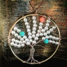 Pearl Tree of by DivineDeanna on Etsy Tree Of Life, My Etsy Shop, Pearls, Trending Outfits, Unique Jewelry, Bracelets, Handmade Gifts, Vintage, Check