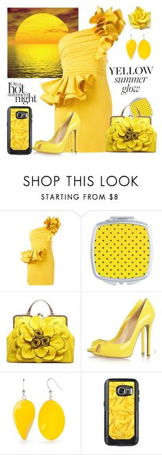 """""""Everything Prettier With Yellow!"""" by personaleffects ❤ liked on Polyvore featuring Dsquared2 and Kim Rogers"""