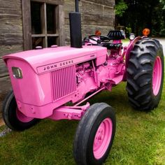 Pink tractor. Lol