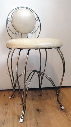 Vintage 1950's Vanity Seat Chair Stool by Lifeinmommatone on Etsy, $55.00