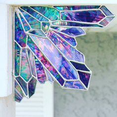 Who doesn't need stained glass crystal art! It is a necessity! This sweet tropical soul makes the most glorious stained glass designs Stained Glass Designs, Stained Glass Projects, Stained Glass Patterns, Stained Glass Art, Stained Glass Windows, Mosaic Art, Mosaic Glass, Fused Glass, Home Decor Ideas