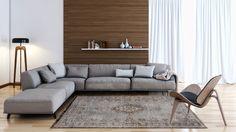 8257 Grey Ebony - The Fading World Collection #flatdown #flatweave #chenille #jacquard #woven #handfinished #flooring #madeinbelgium #wool #louisdepoortere #Fading #fadingworld #erased #medallion #vintage #rug #carpet
