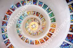 Stain Glass Spiral on Etsy. Thanksgiving Sqaure Cathedral in Dallas, TX. #stainglass #churches