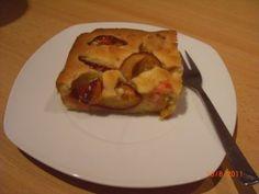 Blechkuchen mit Pflaumen French Toast, Breakfast, Food, Tray Bakes, Morning Coffee, Eten, Meals, Morning Breakfast, Diet