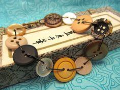 Button Jewelry / Upcycled Jewelry / Shabby by TreasTrinketsTrifles, $16.00