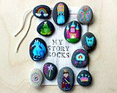 Story Stones and Painted Rocks / Fairytale and Princess Storytelling Game.