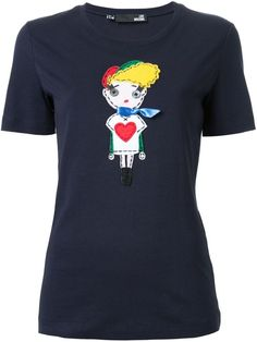 Love Moschino doll patch T-shirt