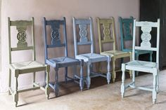 Rush seats painted! Poppytalk: New Book: Color Recipes for Painted Furniture