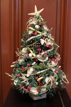 610 best Christmas Table Top Trees images on Pinterest   Christmas ...