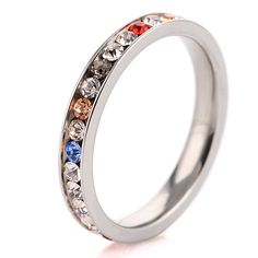 Fashion Jewelry Stainless Steel Golded Color Rings For Women Accessories #Affiliate