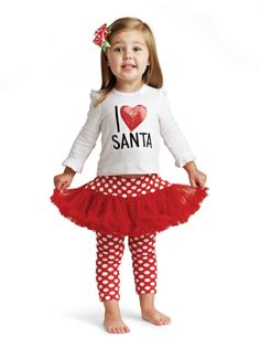 Holiday I Love Santa Playset would be the perfect outfit for sitting on santas lap this holiday season!! ❤❤