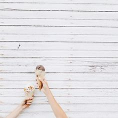 Grabbing ice cream with friends.