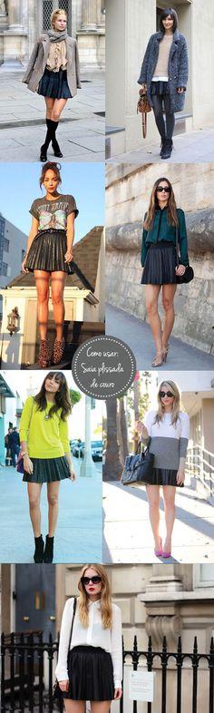 Super dica: looks inspiradores de saia plissada de couro
