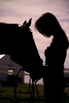 A woman and her beloved horse...