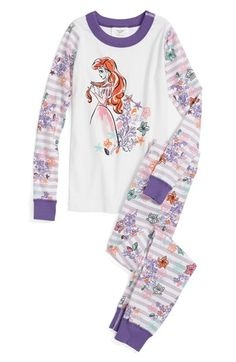 Hanna Andersson 'Disney Princess - Ariel' Two-Piece Fitted Pajamas (Toddler Girls) available at #Nordstrom
