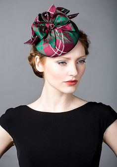 Rachel Trevor Morgan, A/W 2014. Silk taffeta tartan pillbox bows.