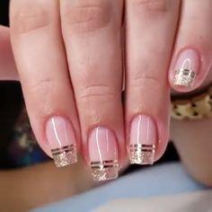 Elegant Look Bridal Nail Art Ideas You'll Love Bridal Nails . Elegant Look Bridal Nail Art Ideas You'll Love Bridal Nails . Cute Nails, Pretty Nails, My Nails, Fingernails Painted, Hair And Nails, Bridal Nail Art, Nail Polish, Minimalist Nails, French Tip Nails