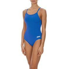 arena Women's Mast MaxLife Thin Strap Open Racer Back One Piece Swimsuit, Royal/Metallic Silver, Size 30 Sporty Swimwear, Cute Swimsuits, One Piece Suit, Range Of Motion, One Piece Swimsuit, Best Sellers, Feminine