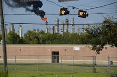 Keystone XL Risks Harm To Houston Community: 'This Is Obviously Environmental Racism' Plumes of smoke, billowing in various shades from white to black, frequently fill the skies over the Manchester neighborhood of Houston. Its no wonder, said Yudith Nieto, that local children grow up thinking oil refinery stacks are cloud makers.