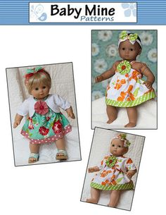 Picnic Sundress Pattern for 15 inch doll