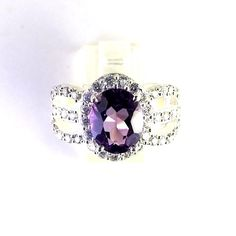 FREE SHIPPING 925  STERLING SILVER NATURAL QUALITY AMETHYST GEMSTONE RING SIZE  #SilvexStore #Cocktail #Anniversary
