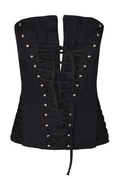 5cce650f4e NWT S S 2002 Dolce   Gabbana Black Strapless Corset Bustier Top