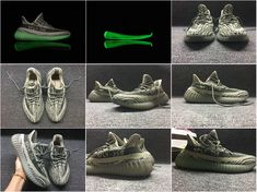 b8b61d005a2 Cheapest adidas Yeezy Boost 350 Grey Green Glow Big Size US 13 14 2018  Online