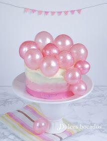 6b7a4e0271b Pastel degradado con burbujas de gelatina - Dulces bocados Torta Con  Gelatina